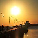 St Kilda Pier Sunset Victoria by Deirdreb