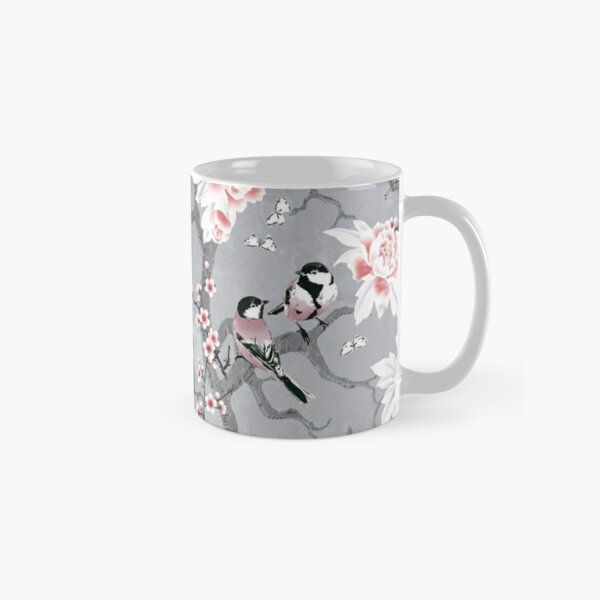 Chinoiserie birds in grey Classic Mug