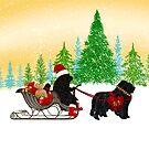 Newfoundland Dog Christmas! by Christine Mullis