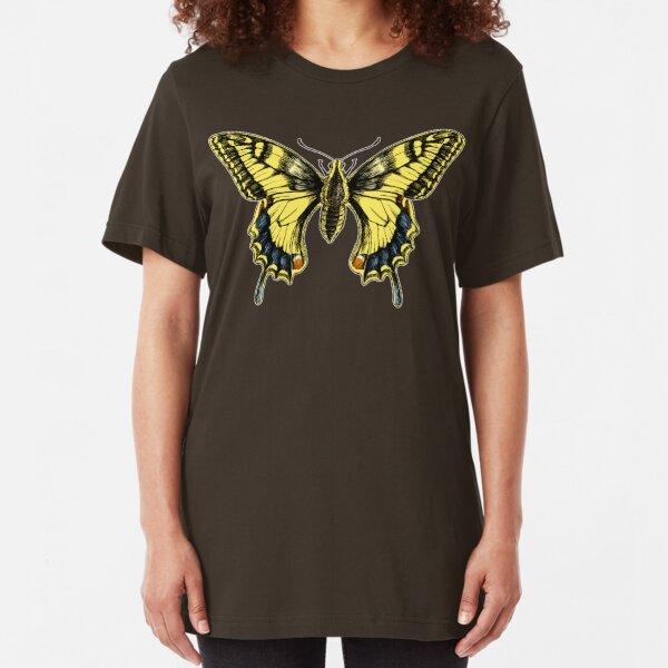 Swallowtail for dark shirts Slim Fit T-Shirt