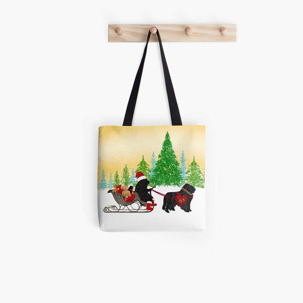 Newfoundland Dog Christmas! Tote Bag