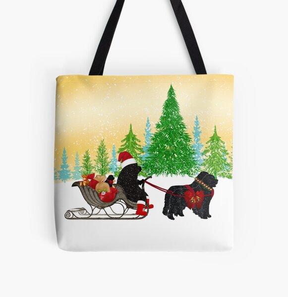 Newfoundland Dog Christmas! All Over Print Tote Bag