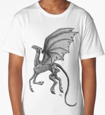 Thestral #2 with Gray Background Long T-Shirt