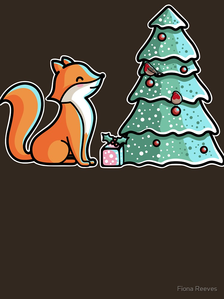 Cute Fox And Christmas Tree by freeves