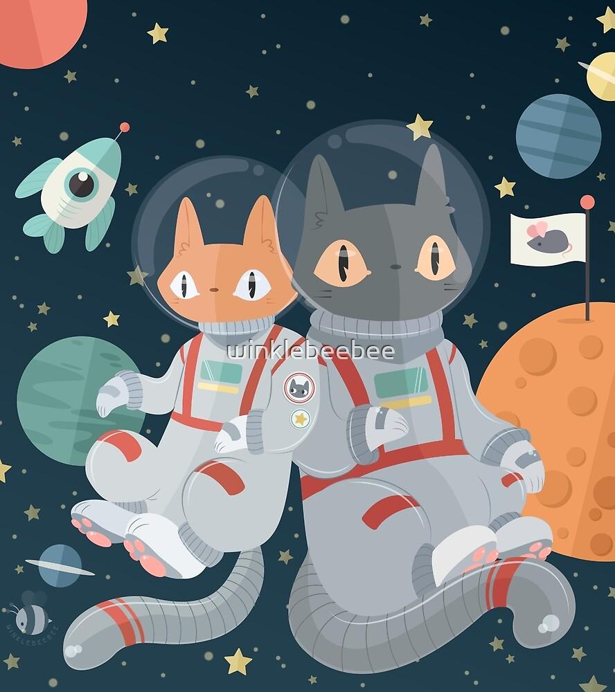 Catstronauts! In! Space! by winklebeebee