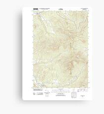 USGS Topo Map  Vermont VT Jay Peak 20120607 TM Canvas Print