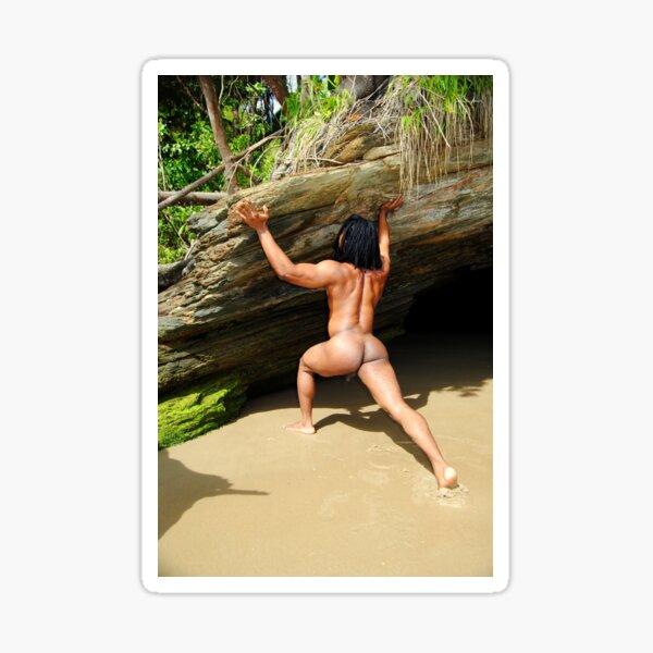 Rasta muscular desnuda Pegatina
