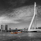 Boats near the bridge - in Rotterdam by Thea 65