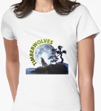 Timberwolves Collectors T-shirts and Stickers Women's Fitted T-Shirt