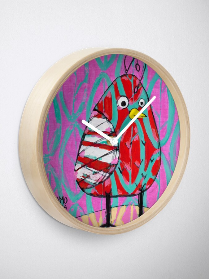 Alternate view of Gum Drop Bird Clock