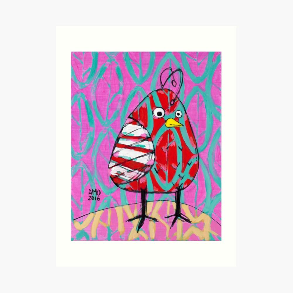 Gum Drop Bird Art Print