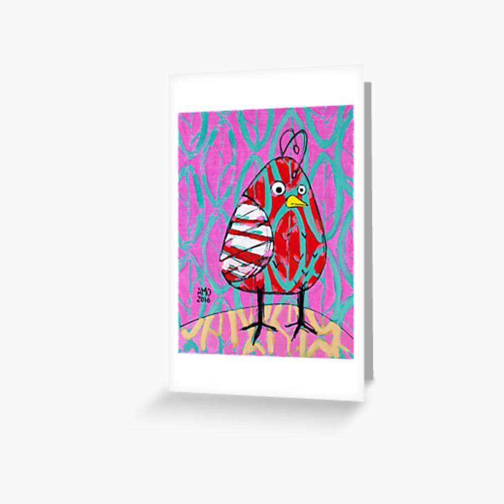 Gum Drop Bird Greeting Card