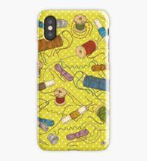 Colored thread iPhone Case/Skin