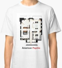 Floorplan of Patrick Bateman's apartment from AMERICAN PSYCHO Classic T-Shirt
