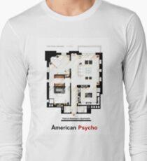 Floorplan of Patrick Bateman's apartment from AMERICAN PSYCHO Long Sleeve T-Shirt
