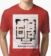 Floorplan of Patrick Bateman's apartment from AMERICAN PSYCHO Tri-blend T-Shirt