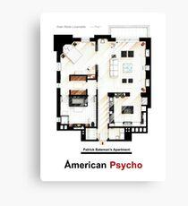Floorplan of Patrick Bateman's apartment from AMERICAN PSYCHO Canvas Print