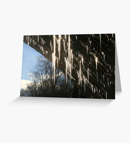 DAZZLING ICICLES Greeting Card