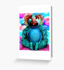 Grover the Waiter's Customer Finally gets his Soup and Burgers Greeting Card