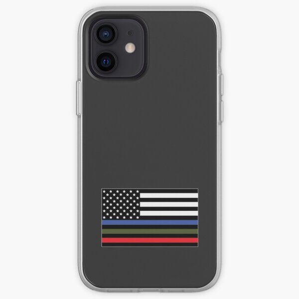 Police, Military and Fire Flag iPhone Soft Case
