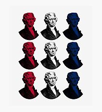 President Thomas Jefferson - Red, White, and Blue Photographic Print