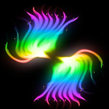 Twin Phoenix Rainbow Mode by davayala93