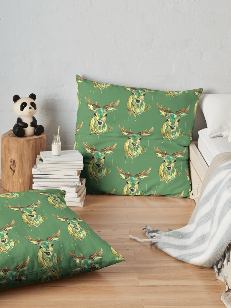 Alternate view of Colour stag Floor Pillow