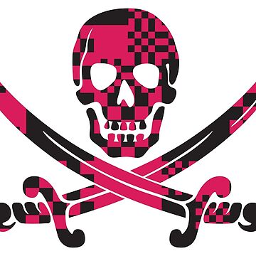Skull and Crossbones Pink and Black pattern by FandomTrading