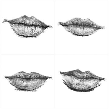 Lip Sketch Pattern by brookedonlanart