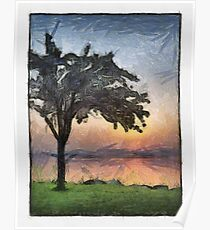 A Sunrise and A Tree Poster