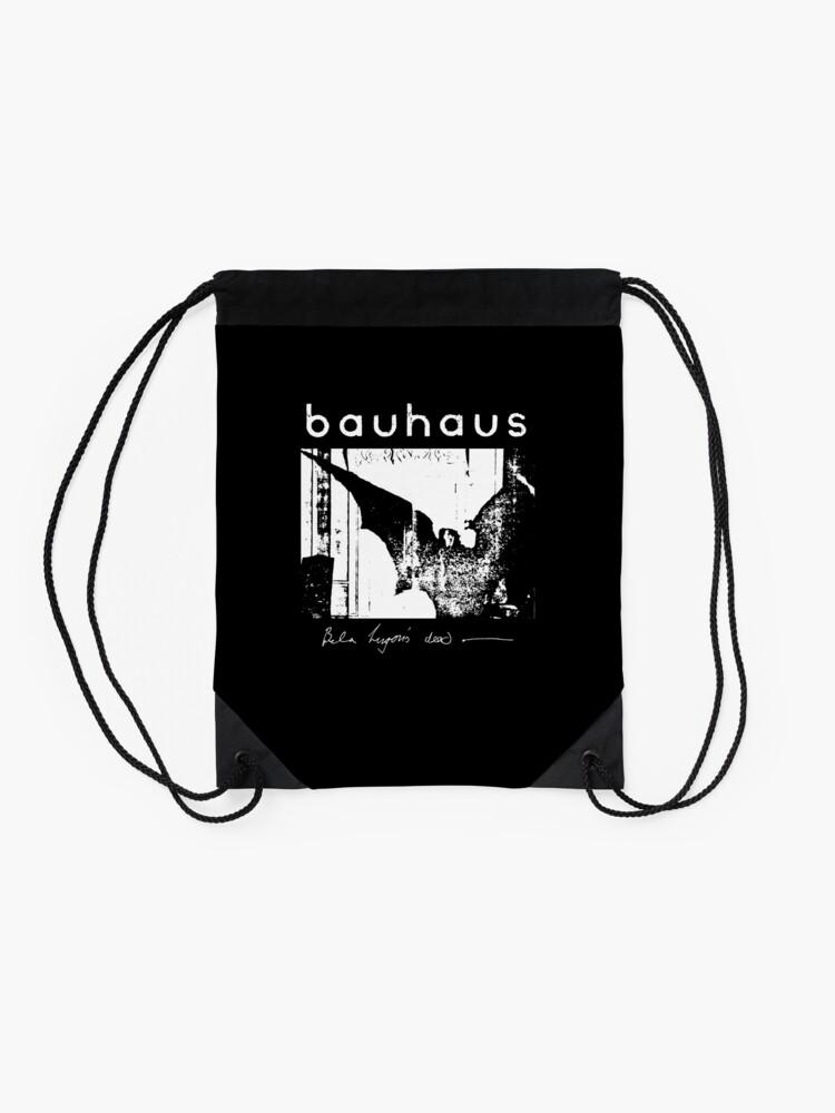 Alternate view of Bauhaus - Bat Wings - Bela Lugosi's Dead Drawstring Bag