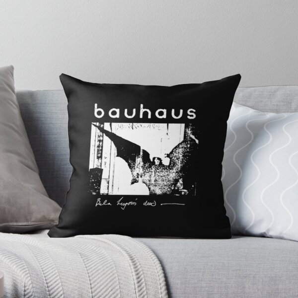 Bauhaus - Bat Wings - Bela Lugosi's Dead Throw Pillow