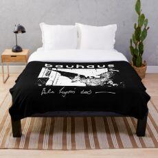 Bauhaus - Bat Wings - Bela Lugosi's Dead Throw Blanket