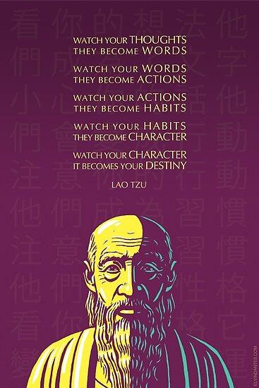 Lao Tzu Zitat: Passen Sie Ihre Gedanken auf von Elvin Dantes