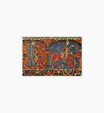 NORWEGISCHE BALDISHOL TAPESTRY, Mittelalterlicher Ritter zu Pferd Galeriedruck