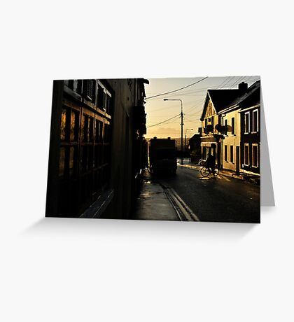 Wofle Tone Street Greeting Card