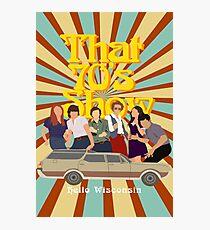 Lámina fotográfica Ese programa de los 70