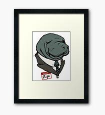 Hugh Manatee Framed Print