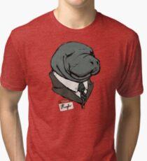 Hugh Manatee Tri-blend T-Shirt