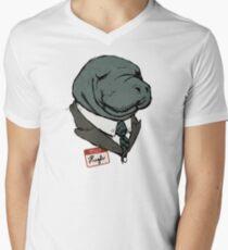 Hugh Manatee Men's V-Neck T-Shirt