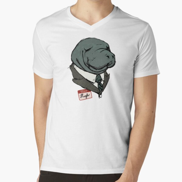 Hugh Manatee V-Neck T-Shirt