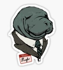 Hugh Manatee Sticker