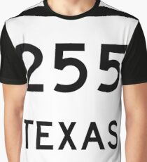Texas State Highway SH 255 | United States Highway Shield Sign Graphic T-Shirt