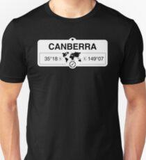 Canberra Australian Capital Territory Coordinates GPS   Unisex T-Shirt