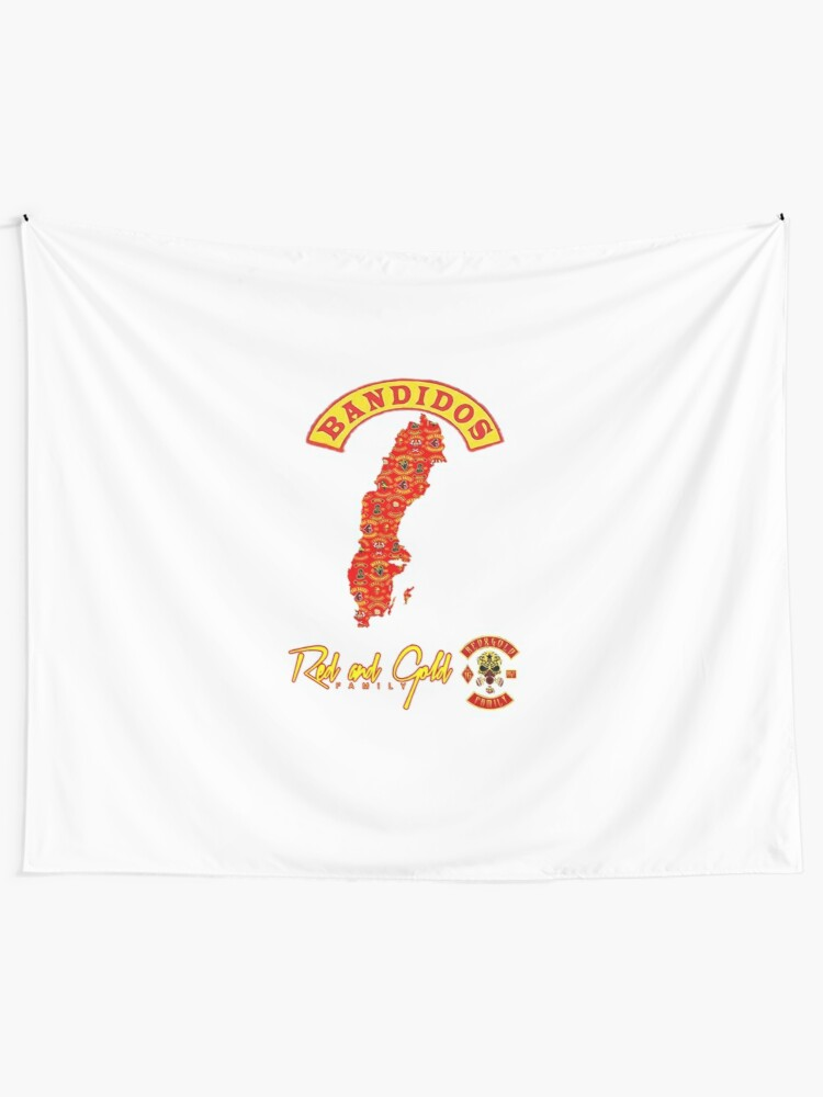 Bandidos Red and Gold Family Sweden | Wall Tapestry