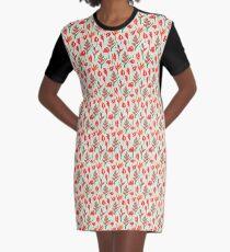 Vibrant Exotic Flowers - Cream Graphic T-Shirt Dress