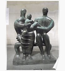 Henry Moore Sculpture -(230512)- digital photo Poster