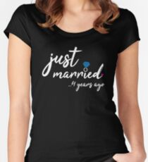 4th Wedding Anniversary Gifts - Just Married 4 Years  Women's Fitted Scoop T-Shirt