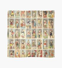 Occupations for Women Series Trading Cards Massive collage Scarf