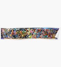 Super Smash Bros Ultimate Poster All Characters Poster